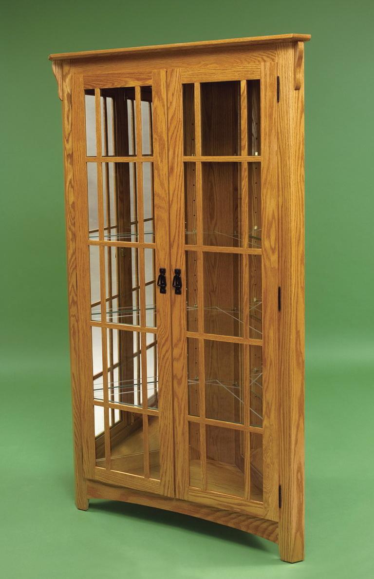 Corner Curio Cabinet Plans