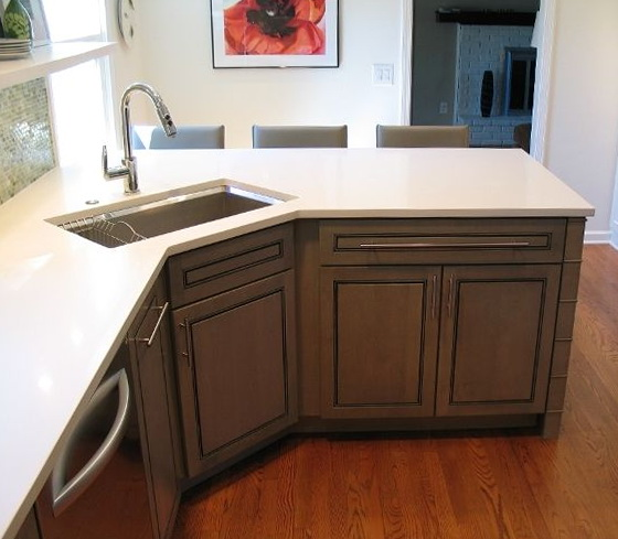 Corner Kitchen Sinks Undermount
