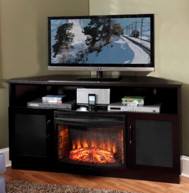 Corner Tv Cabinet With Fireplace