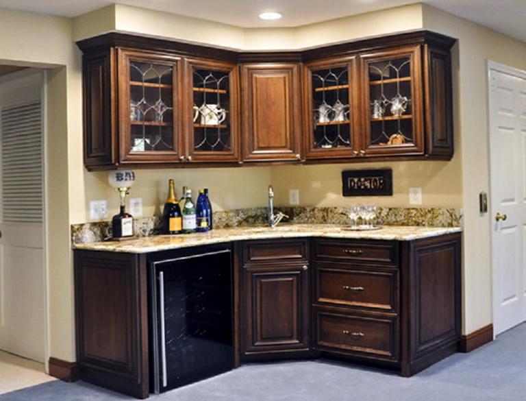 Corner Wet Bar Cabinets