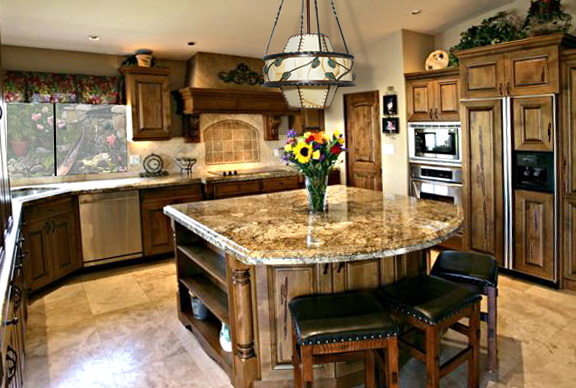 Country Kitchen Islands Ideas