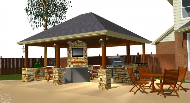 Covered Outdoor Kitchen Plans