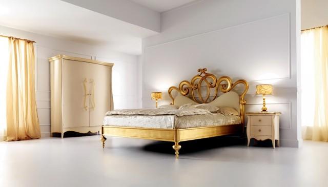 Cream And Gold Antique Bedroom Furniture