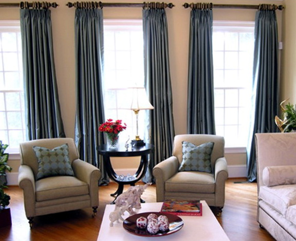 Curtains For Living Room Blue