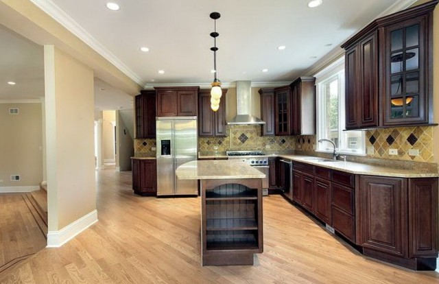 Dark Kitchen Cabinets With Light Floors
