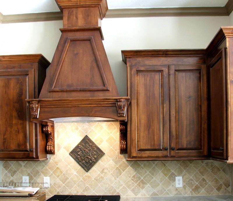 Dark Knotty Alder Cabinets