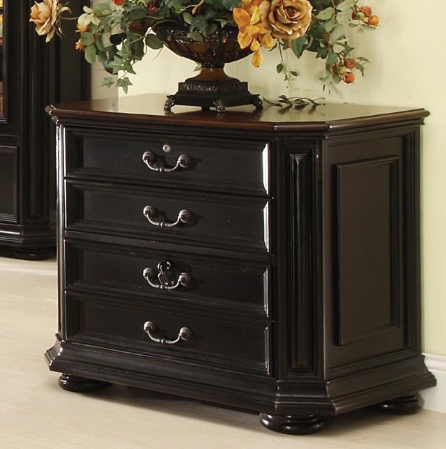 Dark Wood Filing Cabinet
