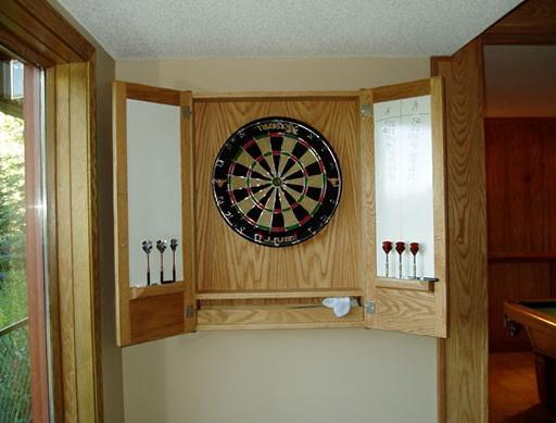 Dart Board Cabinet Diy