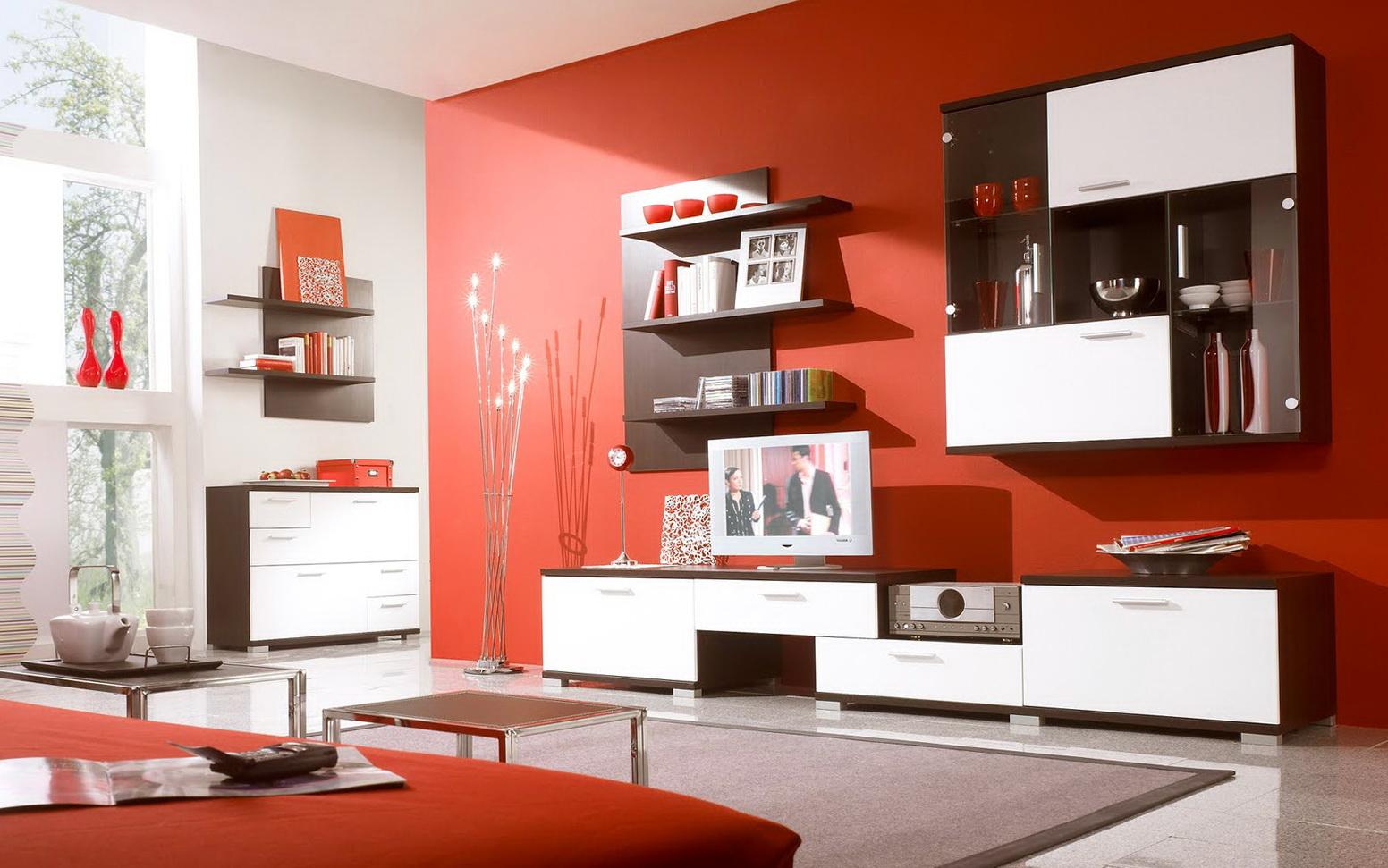 Decorating Living Room Shelves