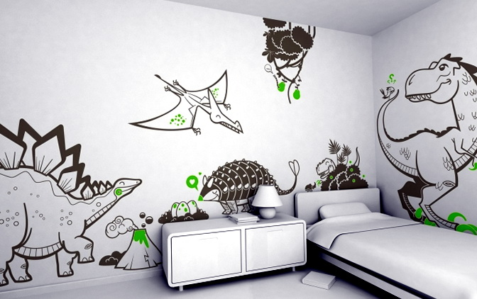 Dinosaur Wall Stickers For Bedrooms