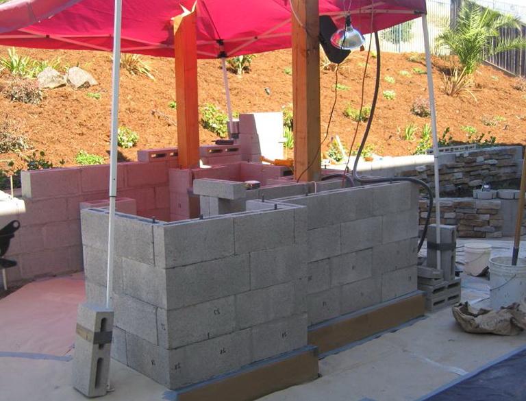 Diy Outdoor Kitchen Cinder Block