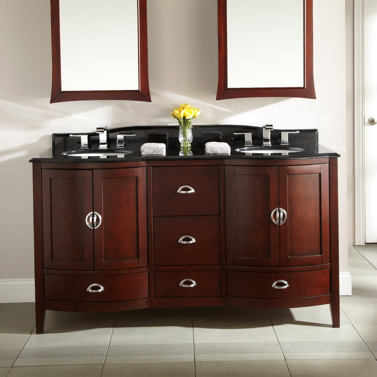 Double Bathroom Vanities 60