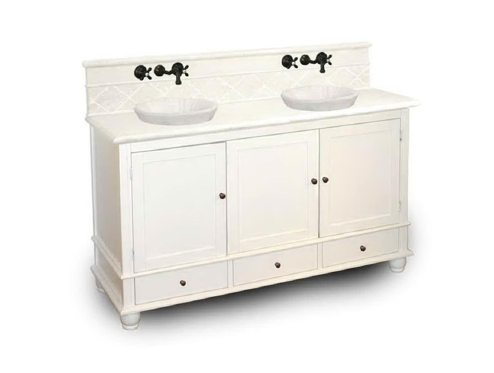 Double Bathroom Vanities Raised Middle