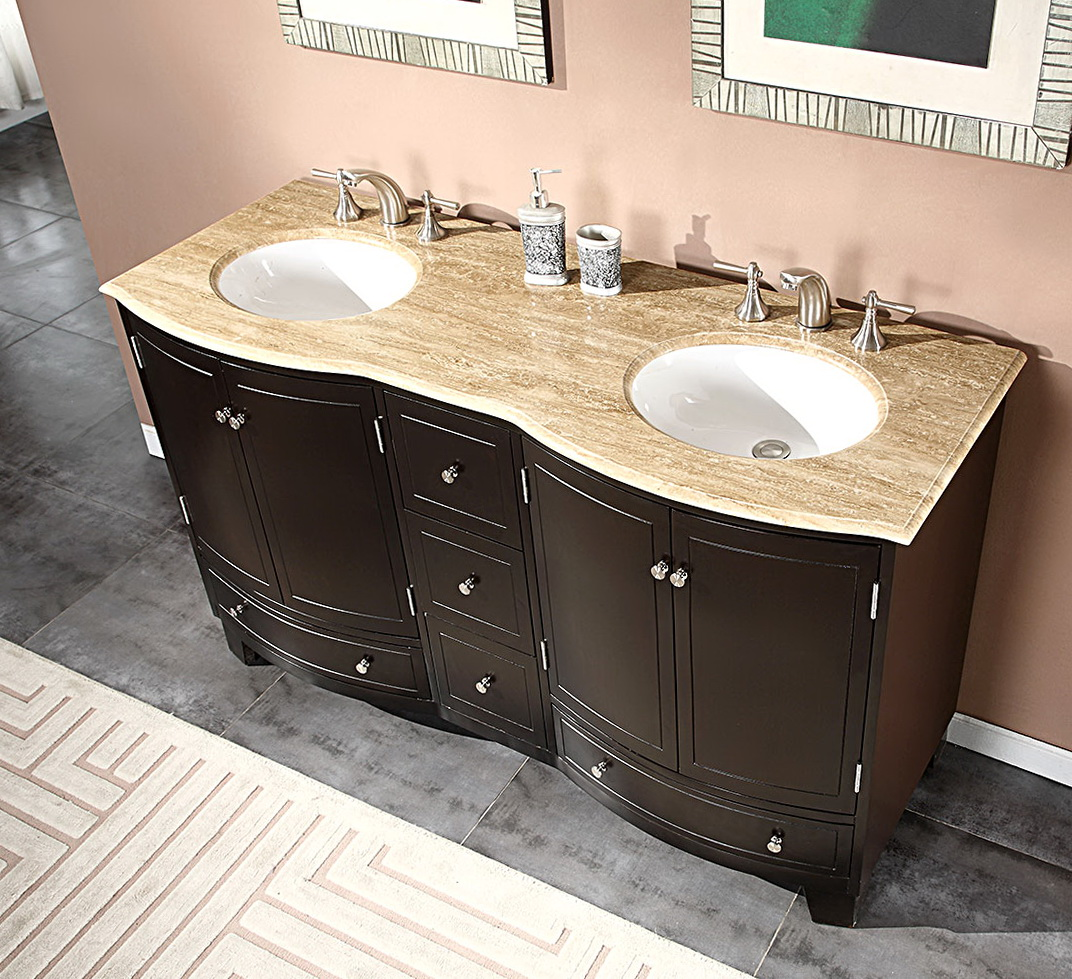 Double Sink Bathroom Vanity Top