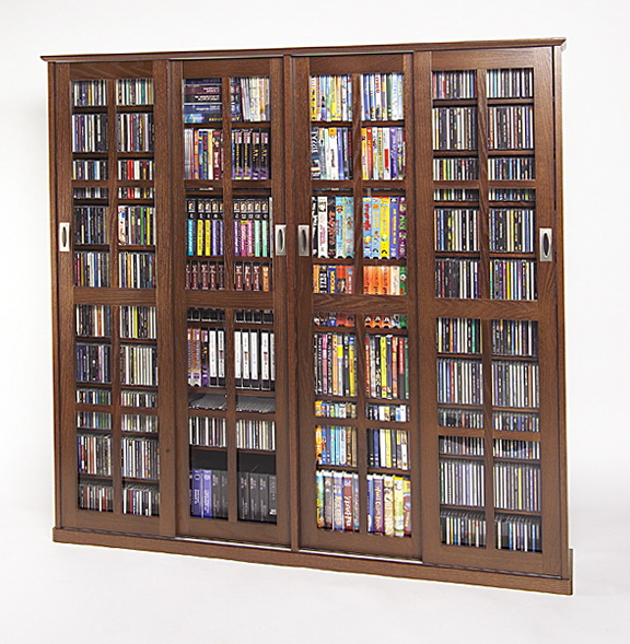 Dvd Storage Cabinet With Glass Doors