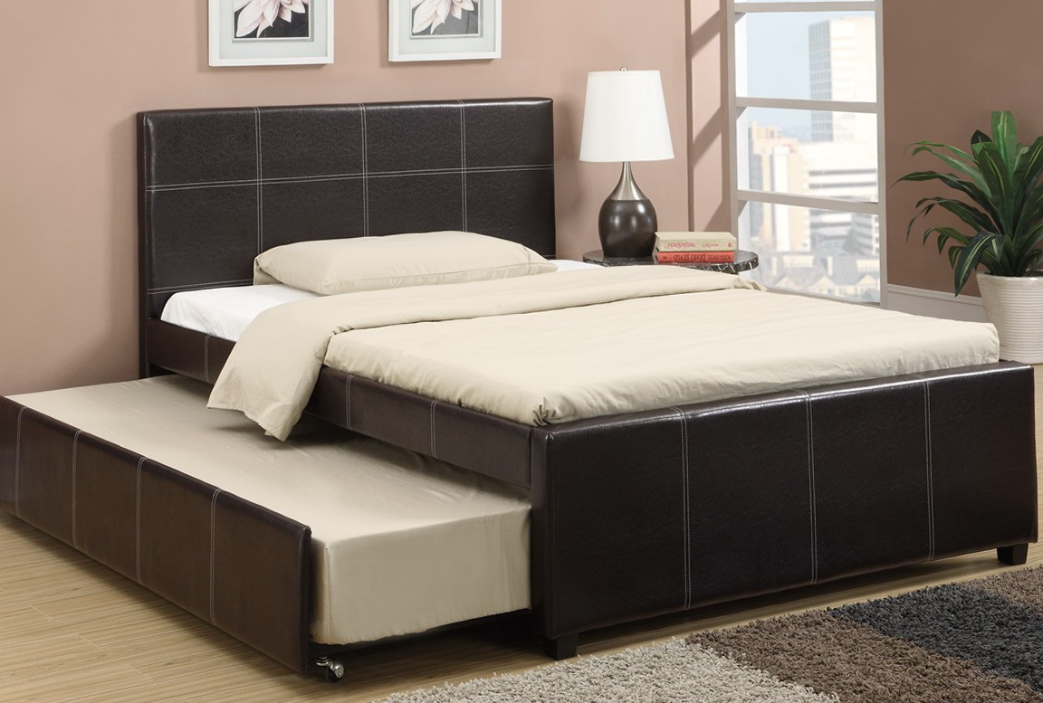 Full Bed With Trundle Twin Bed