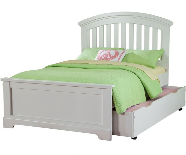 Full Bed With Trundle White