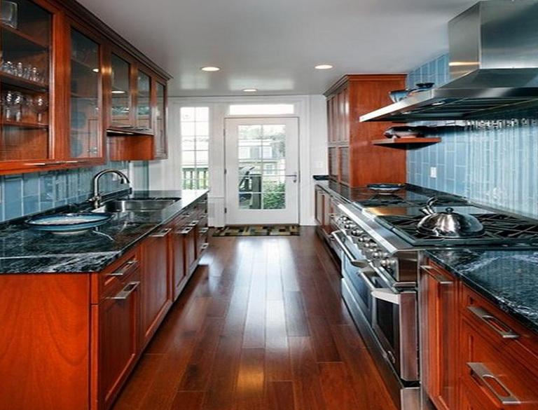 Galley Kitchen Design With Island