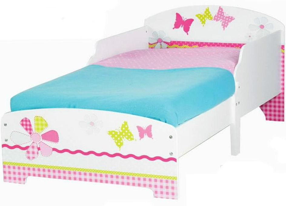Girls White Toddler Bed