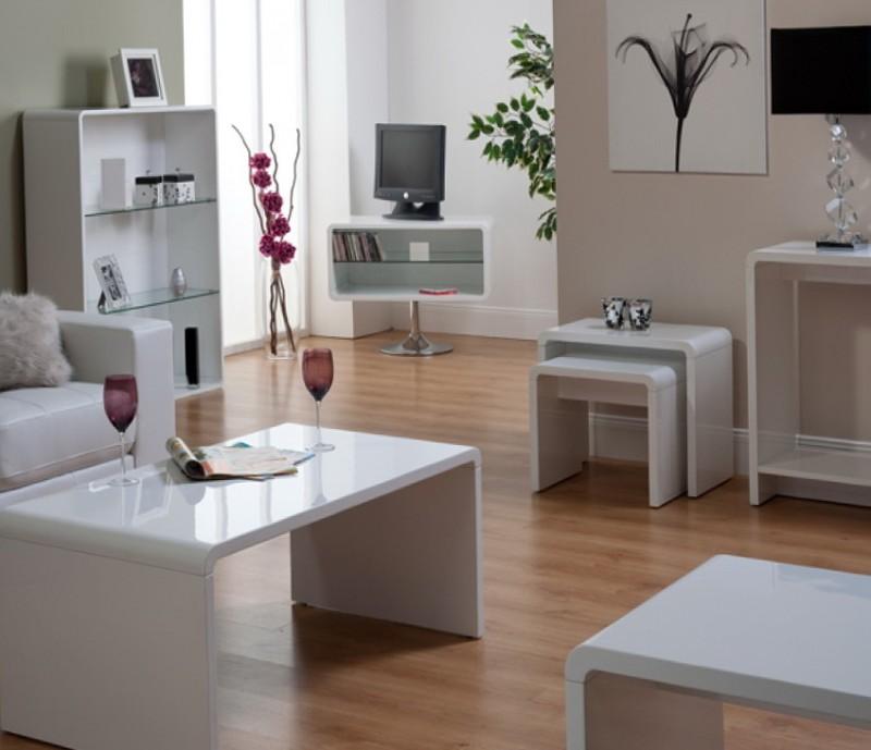 Gloss White Living Room Furniture
