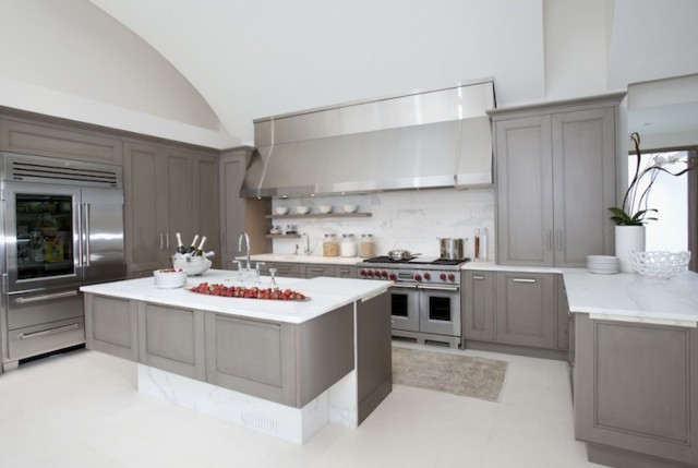 Gray Kitchen Cabinets Modern