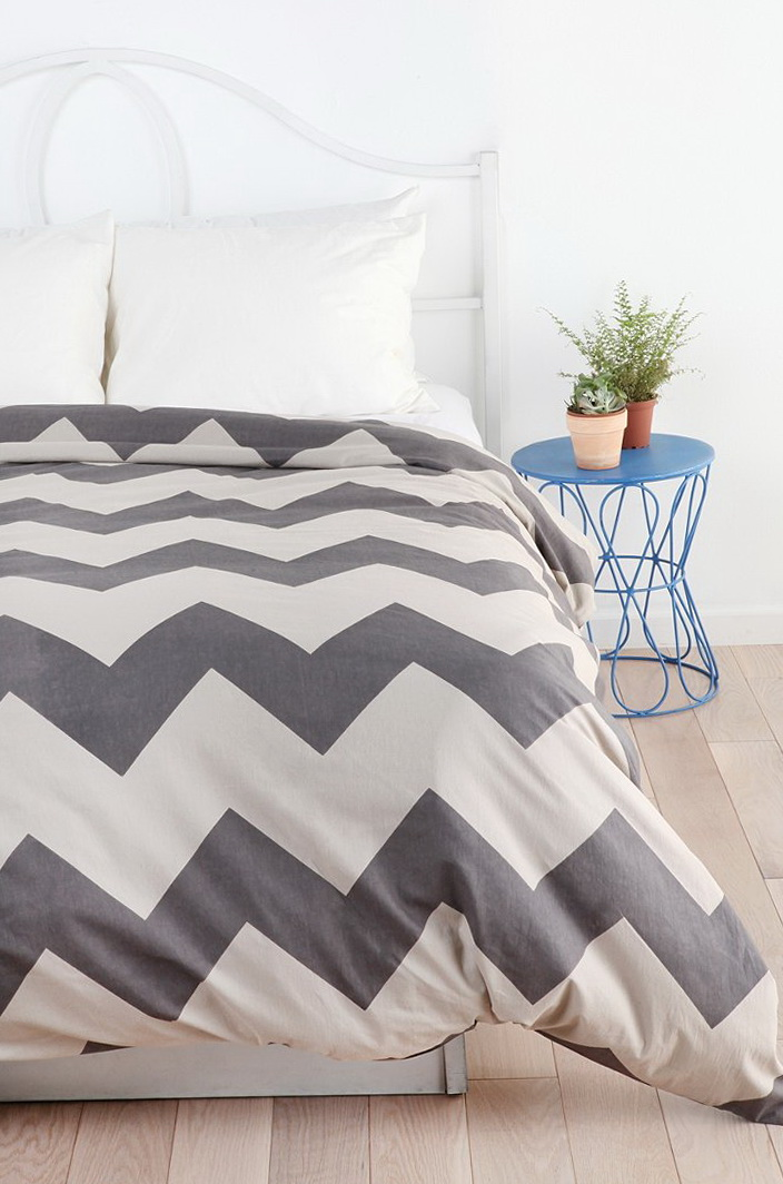 Grey Chevron Bedding Urban Outfitters