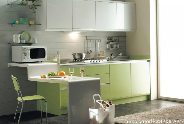 Grey Green Kitchen Cabinets
