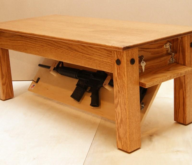 Hidden Gun Cabinet Coffee Table