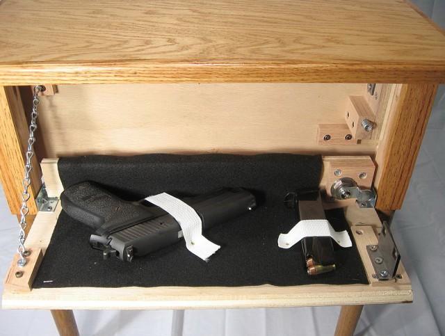 Hidden Gun Cabinet In Plain Sight