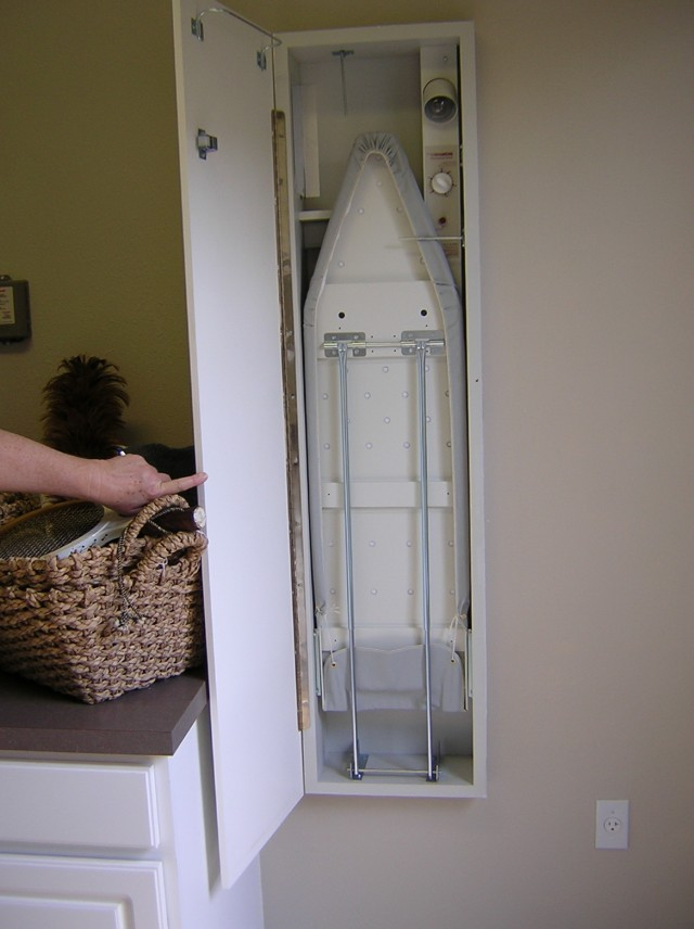 Hidden Ironing Board Cabinet