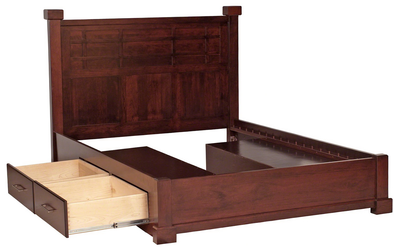 High Bed Frame With Storage