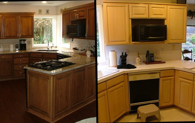 Home Depot Cabinet Refacing Before And After