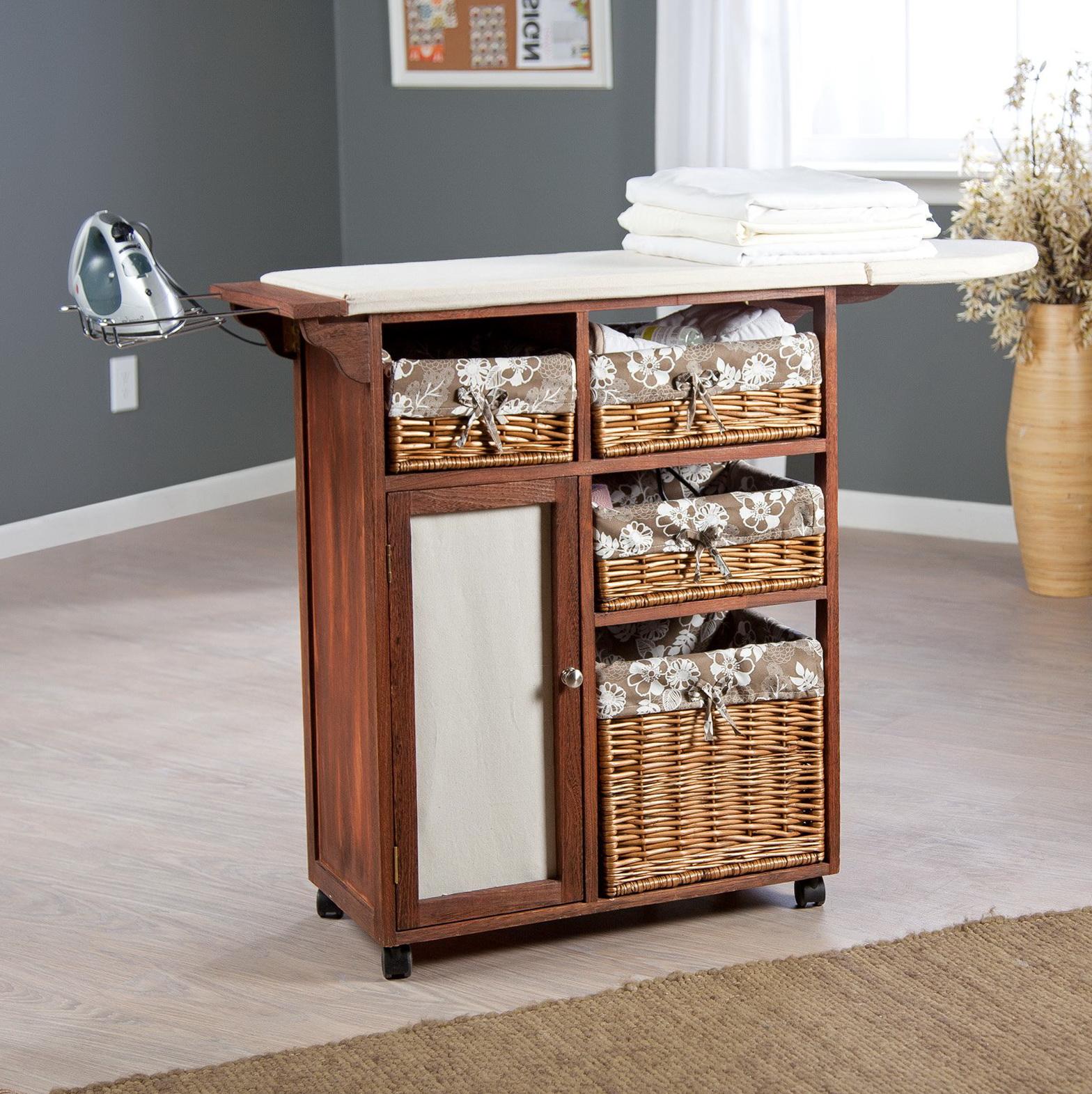 Ironing Board Cabinet On Wheels