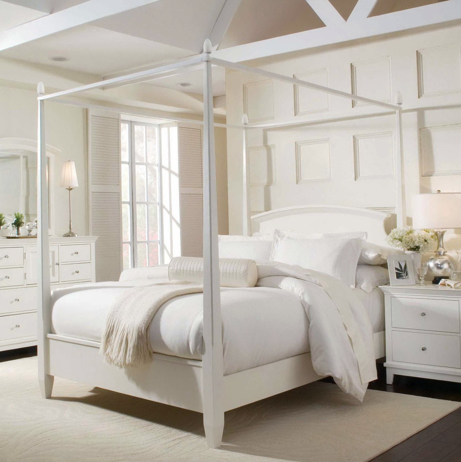 King Size Canopy Bed Cutains