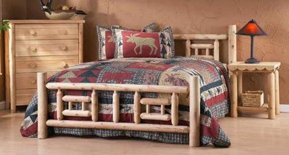 King Size Log Bed Frames