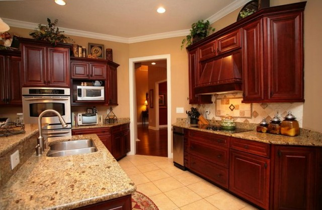Kitchen Color Ideas With Dark Wood Cabinets