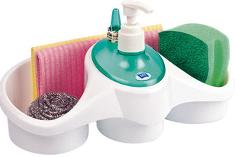 Kitchen Soap Dispenser With Sponge Holder