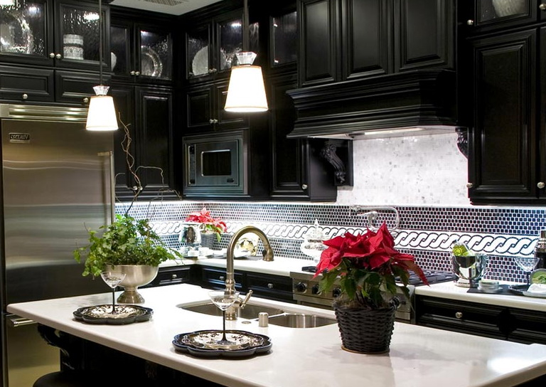 Kitchen Tile Backsplash Ideas With Black Cabinets