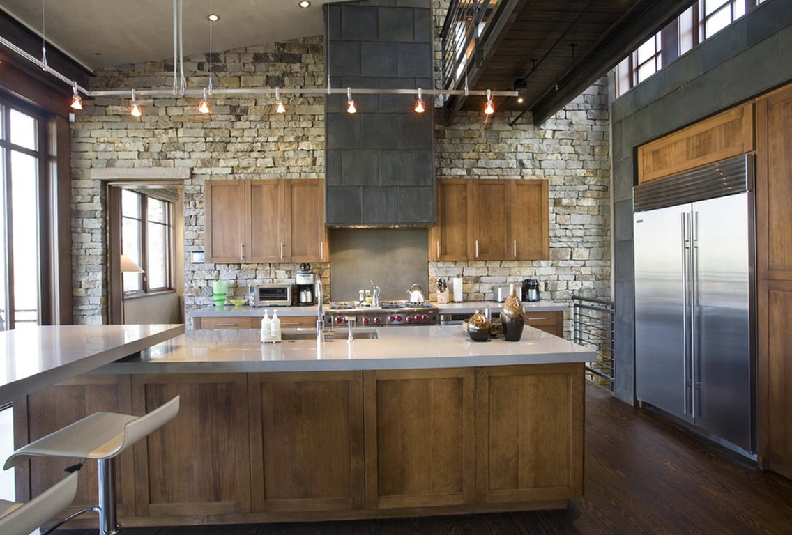 Kitchen Track Lighting Vaulted Ceiling