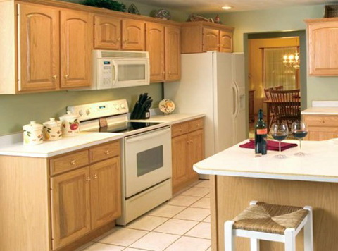 Kitchen Wall Colors With Oak Cabinets