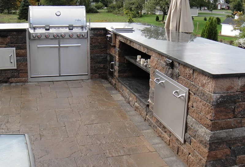 L Shaped Outdoor Kitchen Plans