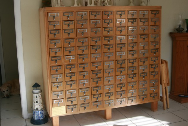 Library Card Catalog Cabinet For Sale