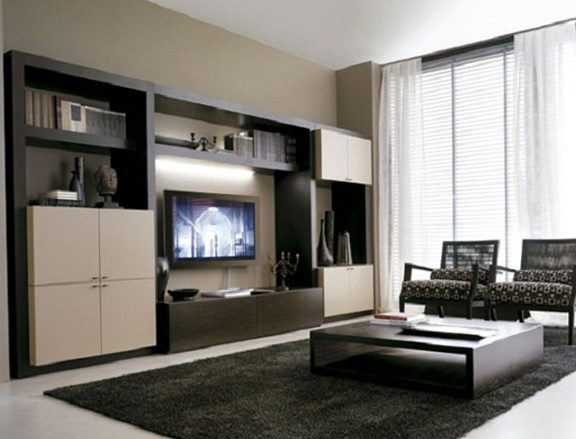 Living Room Cabinets Design Ideas