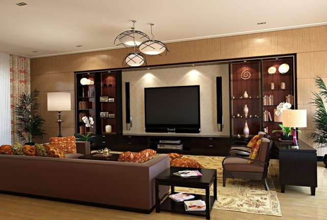 Living Room Paint Color Ideas With Dark Brown Furniture