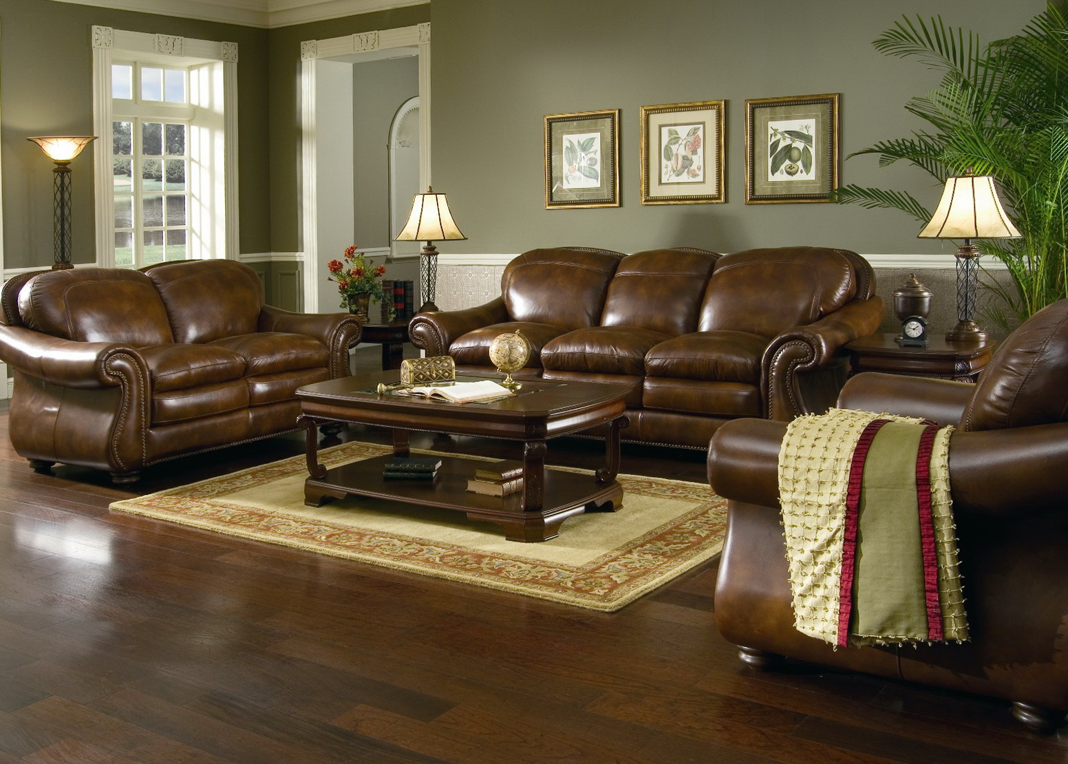 Living Room Pictures With Leather Furniture