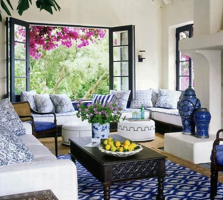 Living Room Rugs Blue