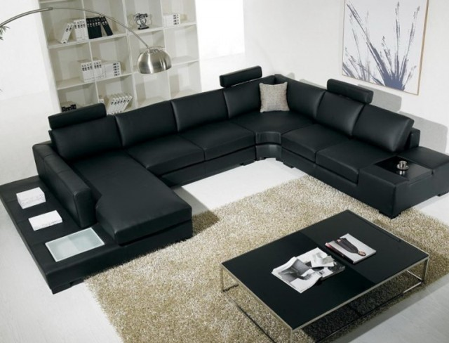 Living Room Rugs With Leather Sofa