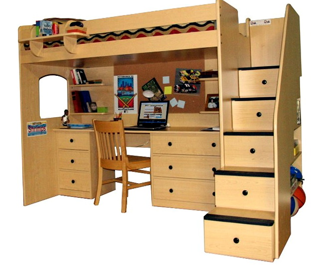 Loft Beds With Desk For Sale