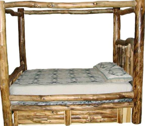 Log Bed Frames King
