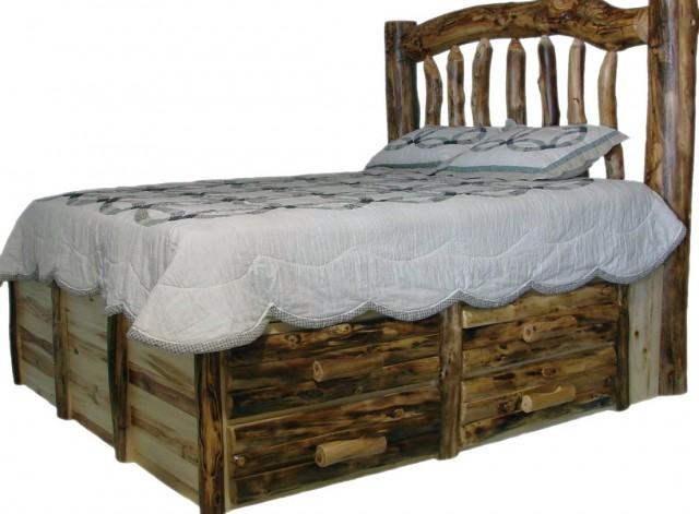 Log Bed Frames Queen